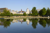Canada, Montreal, view of city from Bonsecours Basin at Old Port. Photographic Print by Jamie & Judy Wild