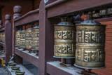 Prayer wheels, Bhaktapur, Kathmandu, Nepal. Photographic Print by Lee Klopfer