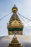 Stupa at Swayambhunath, Monkey Temple, Kathmandu, Nepal. Photographic Print by Lee Klopfer