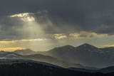 USA, Colorado, Mt. Evans. Landscape of virga rain and God rays. Photographic Print by Cathy and Gordon Illg