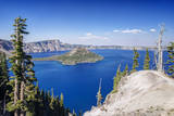 USA, Oregon, Crater Lake National Park, Crater Lake and Wizard Island Photographic Print by Rob Tilley