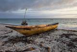 Jambiani, Zanzibar, Tanzania. Canoe on the Beach at Sunrise. Photographic Print by Charles Cecil