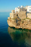 Italy, Apulia, Polignano a Mare. Old village on a cliff. Photographic Print by Michele Molinari