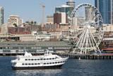 Argosy Harbor Cruise boat returns to Pier 55, Seattle, Washington, USA Photographic Print by Trish Drury