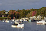 Autumn at New Harbor, Maine, USA Photographic Print by Michel Hersen