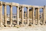 Oval Plaza with colonnade and ionic columns, Jerash, Jordan. Photographic Print by Nico Tondini