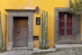 Mexico, San Miguel de Allende. Doorway and window of residence. Photographic Print by Don Paulson