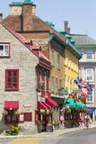 Canada, Quebec, Quebec City, Old Town shops and restaurants. Photographic Print by Jamie & Judy Wild