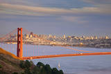 Afternoon above the Golden Gate Bridge, San Francisco, California, USA Photographic Print by Brian Jannsen