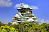 Japan, Osaka, Nara Prefecture. View of the Osaka Castle. Photographic Print by Dennis Flaherty