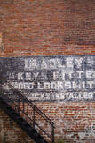 USA, Georgia, Savannah, Painting on a brick building. Photographic Print by Joanne Wells