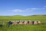 USA, Montana, Fergus County, Hay bales. Photographic Print by Jamie & Judy Wild