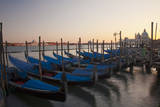 Evening view over Gondolas parked for the night. Photographic Print by Terry Eggers