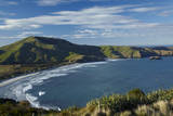 Allans Beach and Mt Charles, Dunedin, Otago, South Island, New Zealand Photographic Print by David Wall