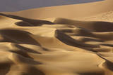 Abstract of desert shapes, Badain Jaran Desert, Inner Mongolia, China Photographic Print by Ellen Anon