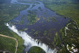 Victoria Falls and Zambezi River, Zimbabwe/Zambia border Photographic Print by David Wall