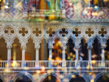 Italy, Venice, Window Reflections of Glass Store with Doge's Palace. Photographic Print by Terry Eggers