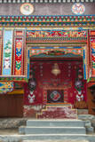 Buddhist temple Namche Bazaar, Nepal. Photographic Print by Lee Klopfer