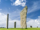 Standing Stones of Stenness, Orkney islands, Scotland. Photographic Print by Martin Zwick