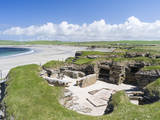 Skara Brae is a Neolithic village. Orkney islands, Scotland. Photographic Print by Martin Zwick