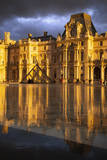 Sunlight and reflections at Musse du Louvre, Paris, France Photographic Print by Brian Jannsen