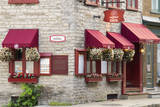 Canada, Quebec, Quebec City, Old Town restaurant. Photographic Print by Jamie & Judy Wild