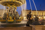Fontaine des Fleuves in Place de la Concorde, Paris, France Photographic Print by Brian Jannsen