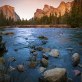 USA, California. Yosemite Valley view from the bank of Merced river. Photographic Print by Anna Miller