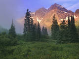 USA, Colorado, Snowmass Wilderness. The Maroon Bells in the morning. Photographic Print by Dennis Flaherty