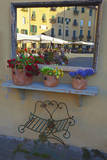 Italy, Lucca, Store Fronts Ready for the Day. Photographic Print by Terry Eggers