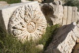 Roman Ruins, Stone carving, Leptis Magna, Libya. Photographic Print by Charles Cecil