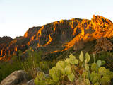 USA, Texas, Big Bend NP, Chisos Mountains, Sunset on Pulliam Ridge. Photographic Print by Bernard Friel