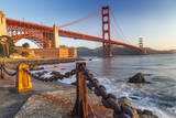 The Golden Gate Bridge from Fort Point, San Francisco, California, USA Photographic Print by Chuck Haney