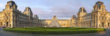 Panoramic view of Musee du Louvre, Paris, France Photographic Print by Brian Jannsen