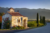 Chapel at Castello di Amorosa vineyards, Napa Valley, California, USA Photographic Print by Brian Jannsen