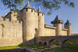 Inner fort of the town Carcassonne, Languedoc-Roussillon, France Photographic Print by Brian Jannsen