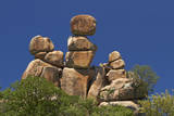 Mother and Child rock formation, Matobo NP, Zimbabwe, Africa Photographic Print by David Wall