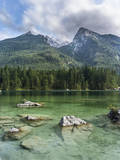 Lake Hintersee with Mt. Hochkalter, Berchtesgaden, Bavaria, Germany. Photographic Print by Martin Zwick