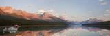 Canada, Alberta, Jasper NP. Panorama of Maligne Lake at sunset. Photographic Print by Don Paulson