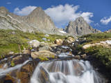 USA, California, Inyo NF. Waterfalls below Mt Ritter and Banner Peak. Photographic Print by Don Paulson