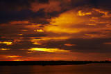 Sunset over Chobe River, Chobe Safari Lodge, Kasane, Botswana, Africa Photographic Print by David Wall