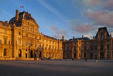 Setting sunlight on the Palais du Louvre, Paris, France Photographic Print by Brian Jannsen