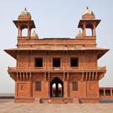 Diwan-i-Khas of Emperor Jalal el-Din Akbar, Fatehpur Sikri, India. Photographic Print by Charles Cecil