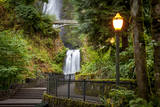 Walkway leading to Multnomah Falls, Columbia River Gorge, Oregon, USA Photographic Print by Brian Jannsen