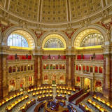 USA, Washington DC. The main reading room of the Library of Congress. Photographic Print by Christopher Reed