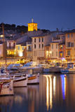 Twilight over harbor town of Cassis, Provence France Photographic Print by Brian Jannsen