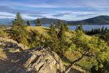 Flathead Lake seen from a ridge top, Wild Horse Island SP, Montana Stampa fotografica di Chuck Haney