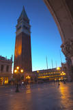 San Maro Square and Bell Tower early evening. Photographic Print by Terry Eggers