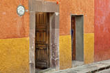 Mexico, San Miguel de Allende. Open doorway. Photographic Print by Don Paulson