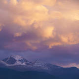 USA, Colorado. Long's Peak at sunset in Rocky Mountain National Park. Photographic Print by Anna Miller